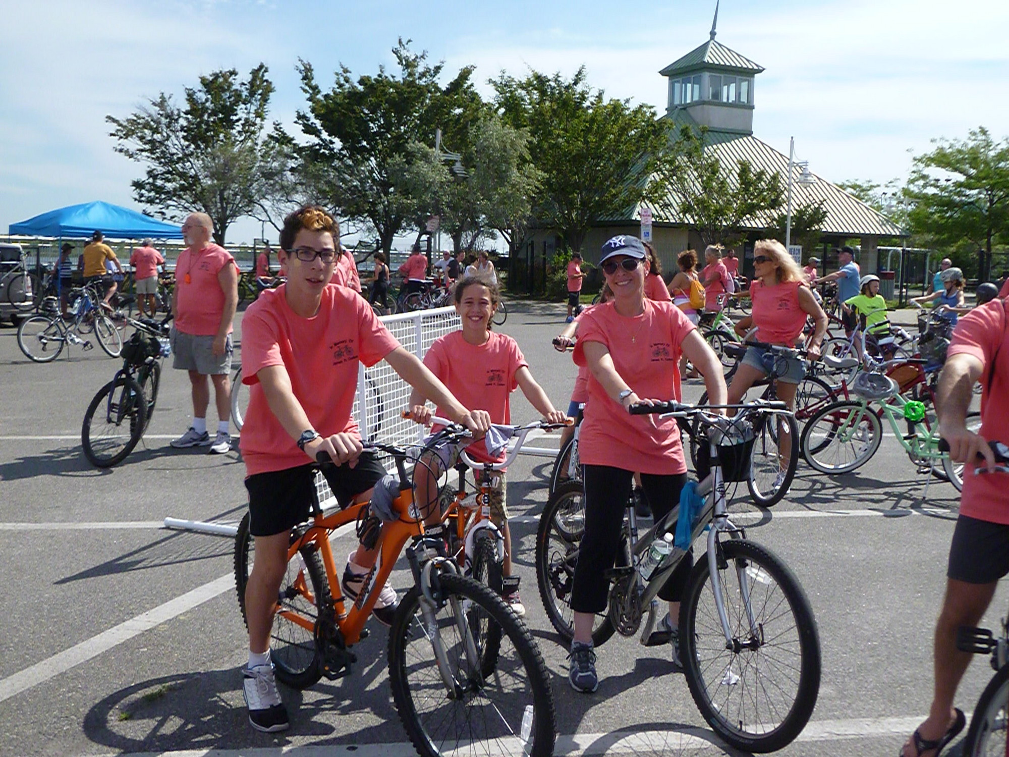 Riders departed from the Long Beach Recreation Center for the 11-mile ride.