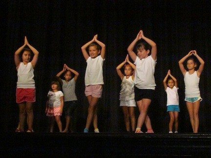 A Dance n' Beats class performed during Visitors' Day.