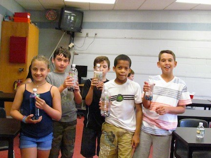 Students in the Mad Scientists Class proudly displayed their projects.
