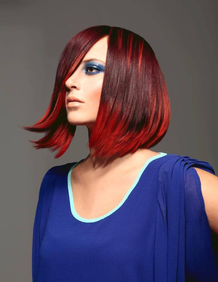 Jennifer Correale's award-winning hair color, a vibrant two-toned red, was modeled by her cousin, Breanna Mooney.