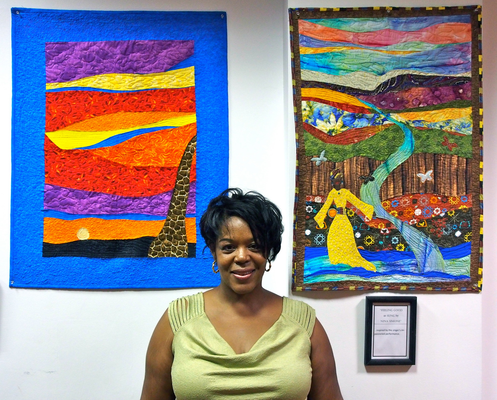 Kim Taylor, a quilting artist and former Baldwin Board of Education trustee, is 