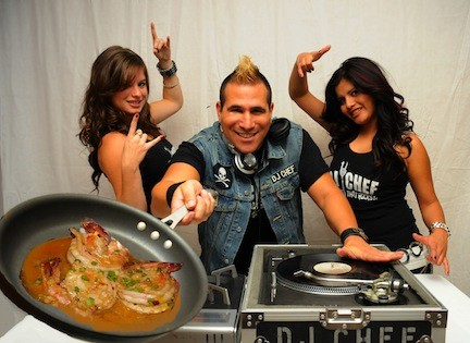 "DJ Chef Marc Weiss will appear on the Food Network's ""Cutthroat Kitchen"" this Sunday."