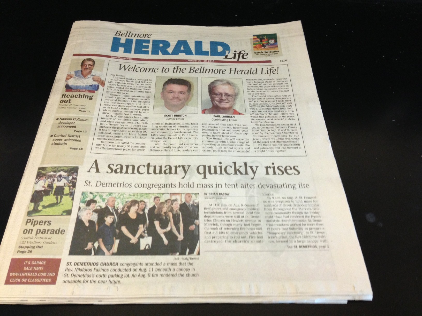 The new Bellmore Herald Life.