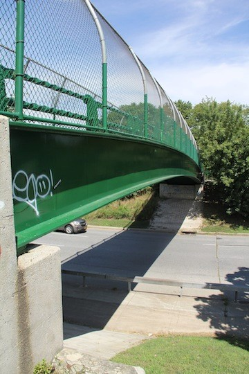 The body of a teenager girl was found on the footbridge overpass crossing Merrick Road, near Mill River.