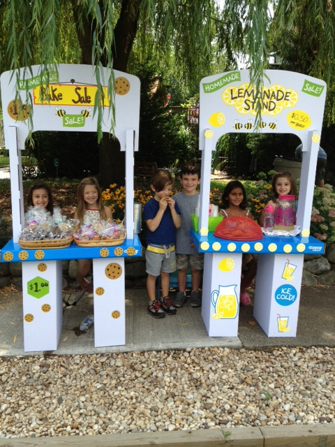 On August 16, six residents of Malverne, ages 4-8 held a lemonade sale and bake sale on the corner of Cornwell Avenue and Scarcliffe Drive in Malverne. Pictured, Jaimes and Tristan Piciullo, Kate and Jenna Lewis, Madison Mahabir and Liam Corbett.