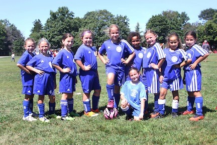 Teams from across Long Island participated in the tournament, including these girls from Merrick.