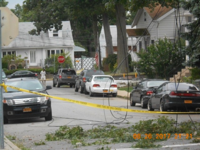 Residents awakened Tuesday to a messy scene of fallen trees and downed wires outside their homes.