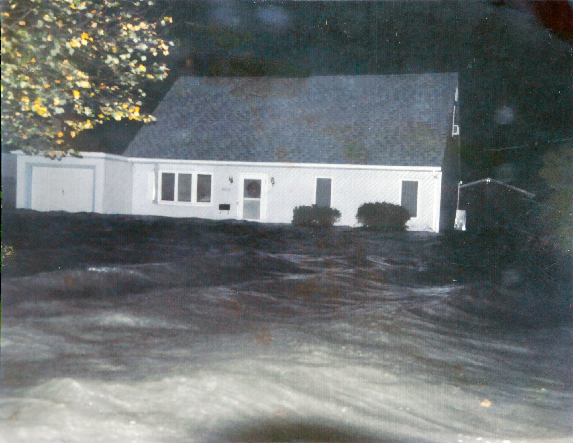 A friend took this photo of the Cesare house during Sandy. The water eventually came up to the windows.