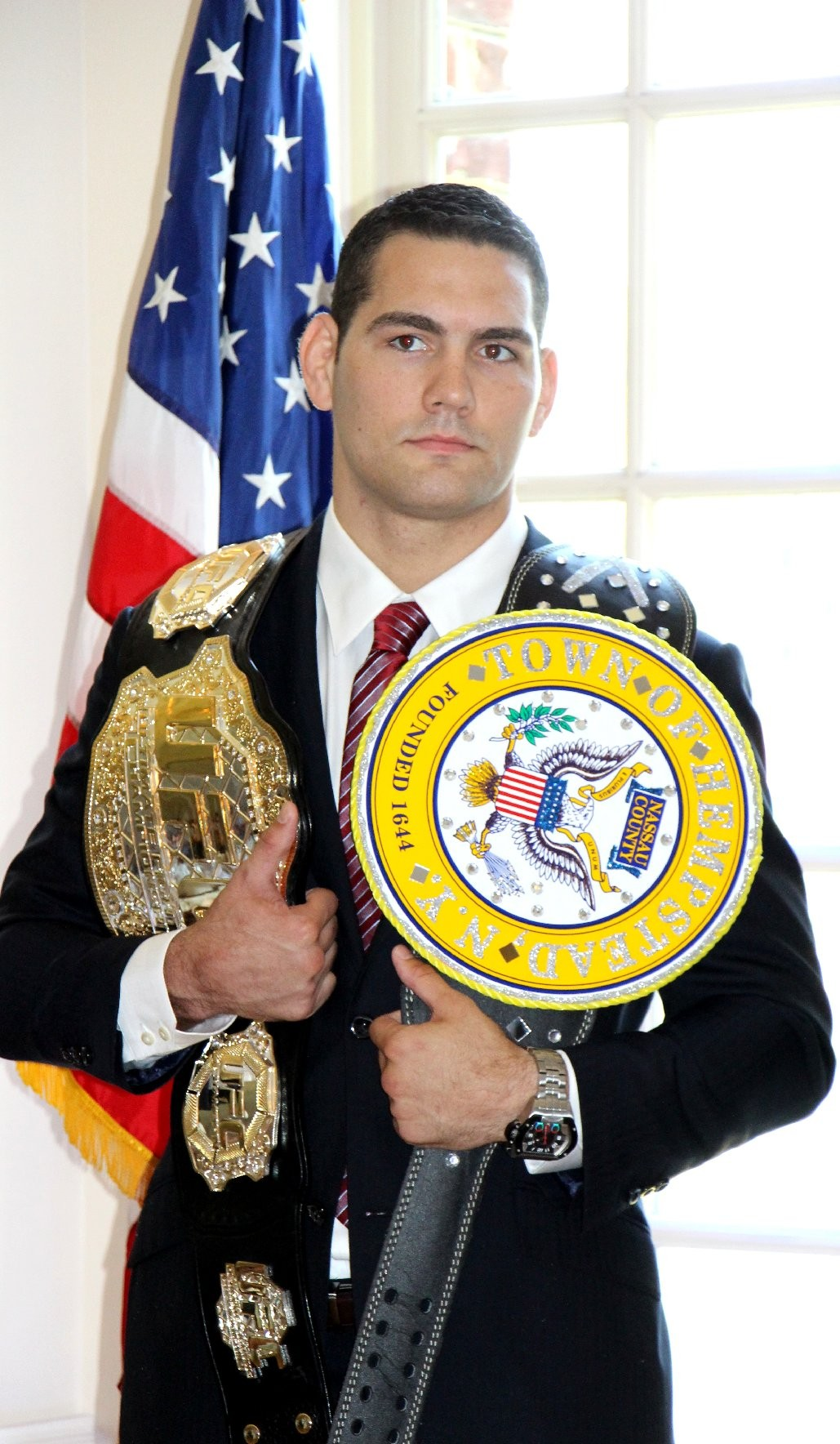 Chris Weidman, who wrestled for Baldwin High School as well as Hofstra and Nassau Community College, will appear at a fundraiser on Sept. 11 to support sports at Baldwin Middle School.