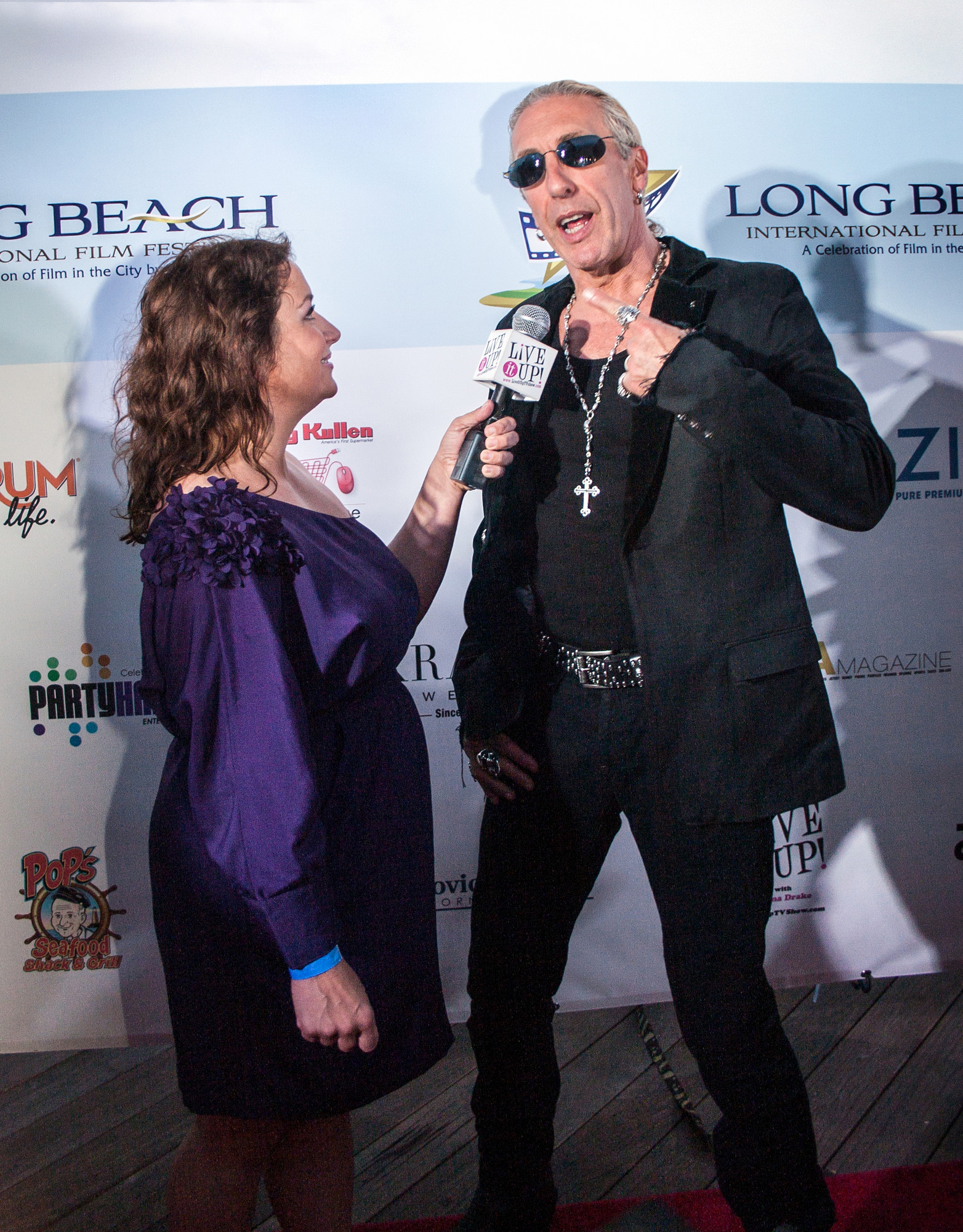 "Dee Snider of Twisted Sister was interviewed on the red carpet by Live it Up's Donna Drake. Snider executive produced his son Cody Blue Snider's film ""Fool's Day."""