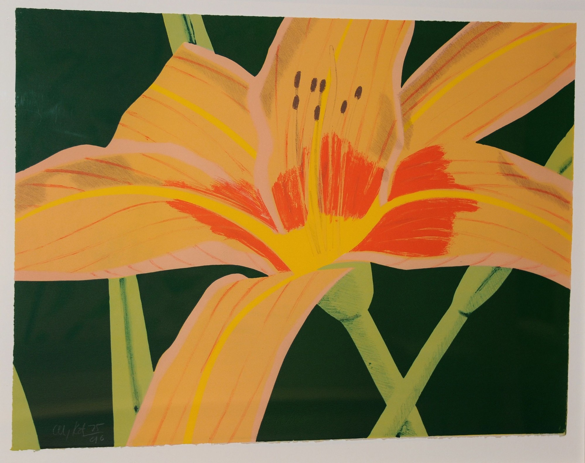 """Day Lily II"" is among the works by Alex Katz on view at Nassau County Museum of Art."