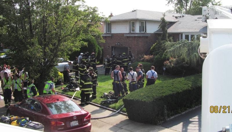 East Meadow Fire Department firefighters responded to a house fire on Beverly Place on Aug. 21., and extinguished the flames in 20 minutes.