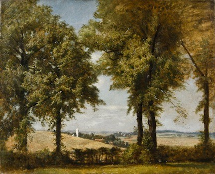 A Bavarian Landscape, by Charles Henry Miller. 1860s, oil on paperboad, measures 12x16 inches. From Charles Henry Miller, N.A. Painter of Long Island by Geoffrey K. Flemming and Ruth Ann Bramson.