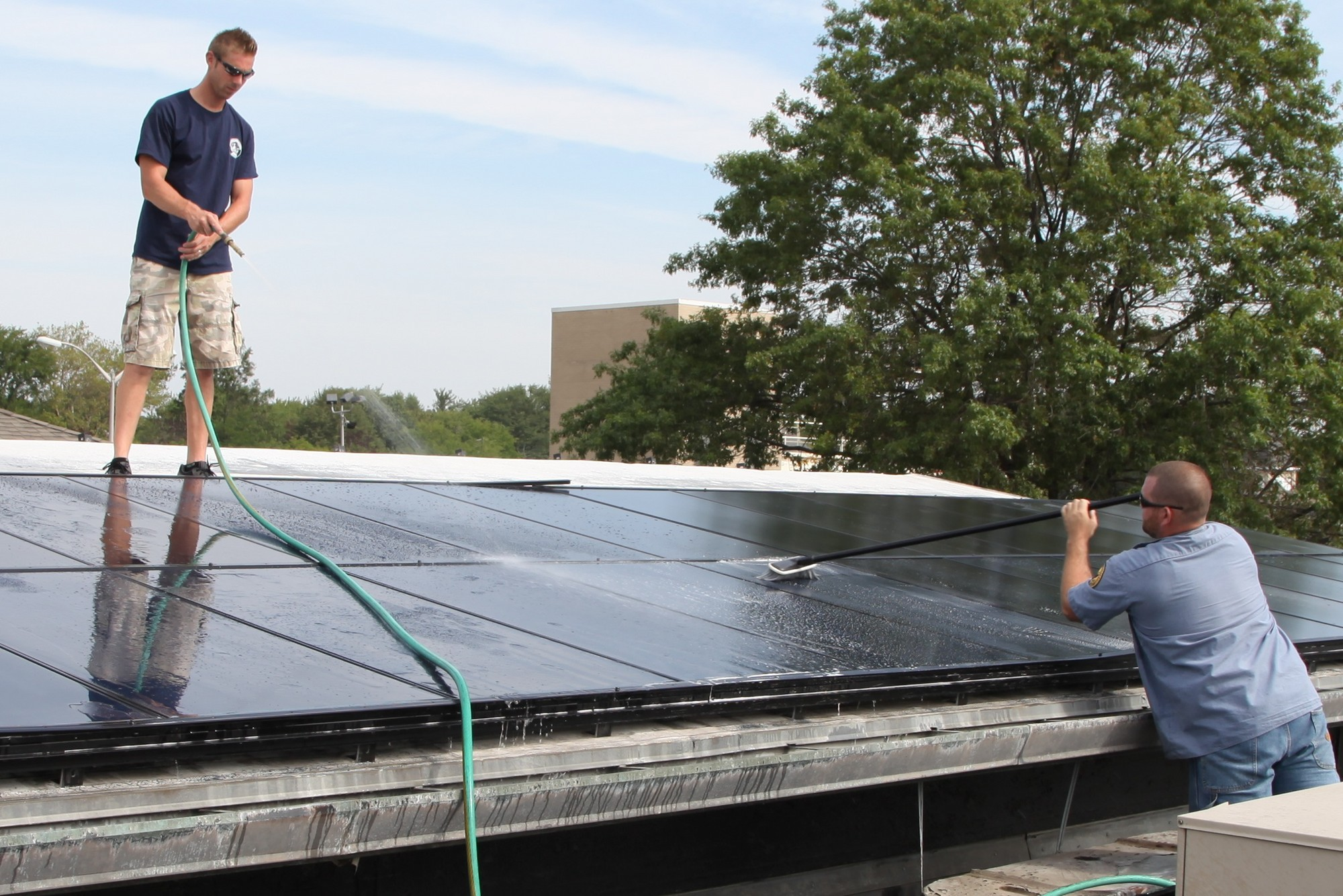 Solar panels that were installed at the Merrick Senior Center were activated on Aug. 24.
