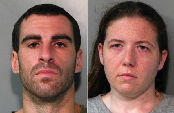 Frank Simone and Allyson Tibaldi, both of Franklin Square, had their three-year old daughter with them while they committed burglary in New Hyde Park on Aug. 24.