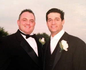 Brian Ciampi, left, died on Feb. 22 after a long battle with colon cancer.