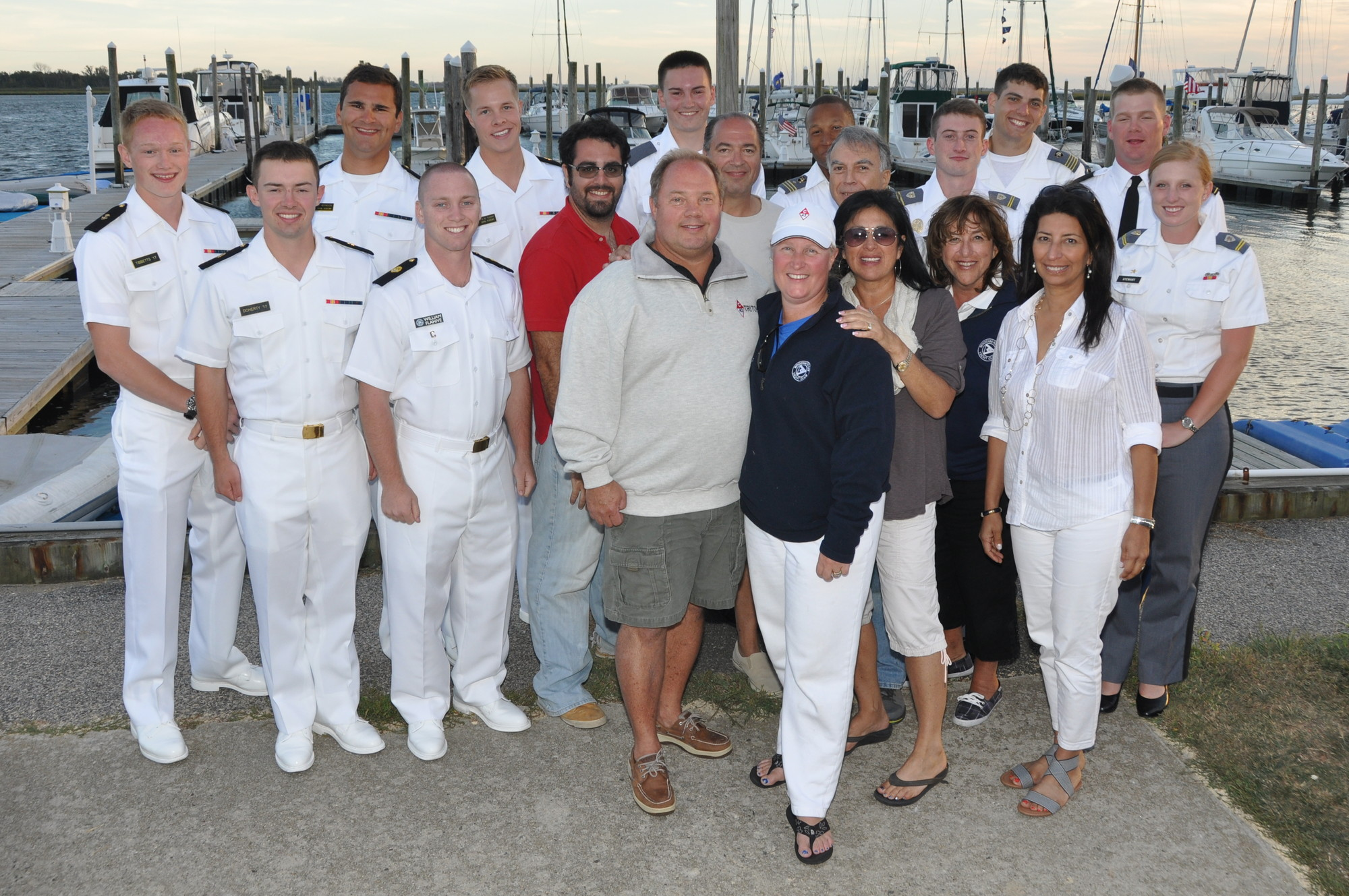 The annual Spirit Rider Regatta Naval Academy students, left, Woodmere Bay Yacht Club members and students from the military academy at West Point, right.