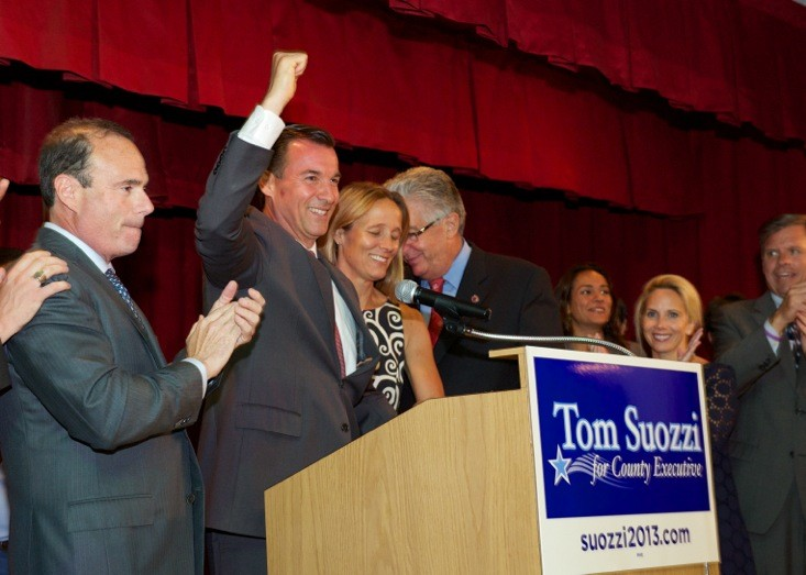 Tom Suozzi was selected at the Democratic party's candidate for Nassau County executive.