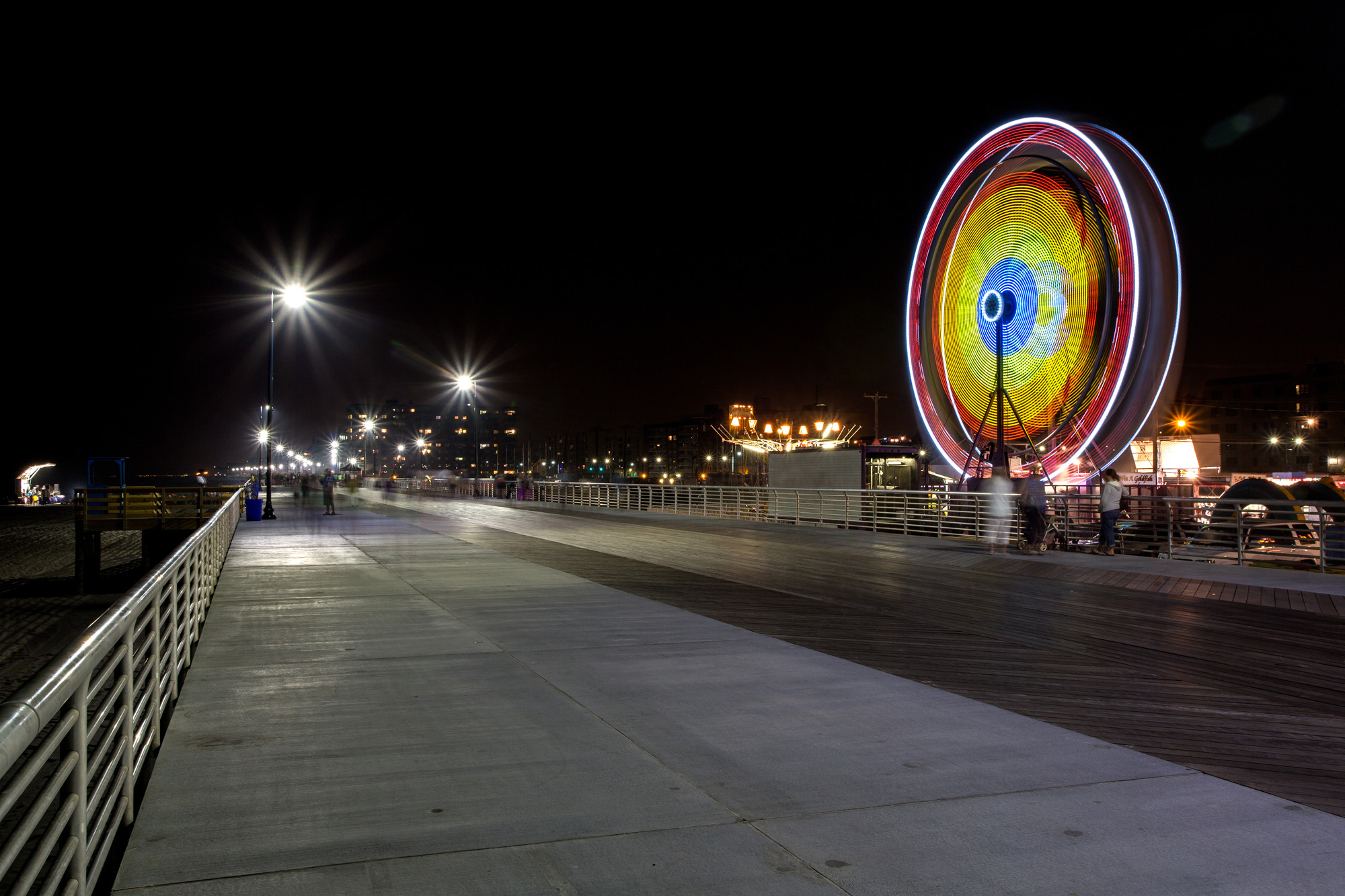 Tepfer recently photographed a carnival and concert on a rebuilt stretch of the boardwalk.