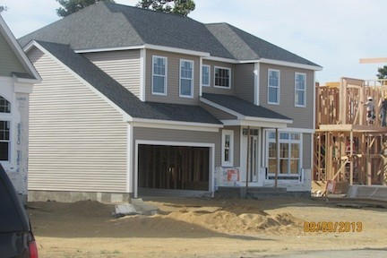 A new neighborhood is under way in North Bellmore, on the grounds of a former U.S. Army base. Four model homes are now under construction.