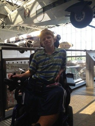 Max Gold and his brother Jake Gold in August last year visited the Smithsonian Institution's Air and Space Museum. The brothers have commenced a federal discrimination lawsuit against the Smithsonian for refusing to let Max, who is in a wheelchair, to get in a flight simulator.