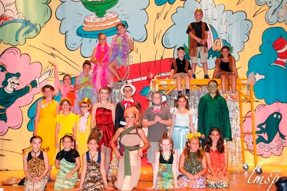Plaza�s cast while performing �Seussical the Musical.�