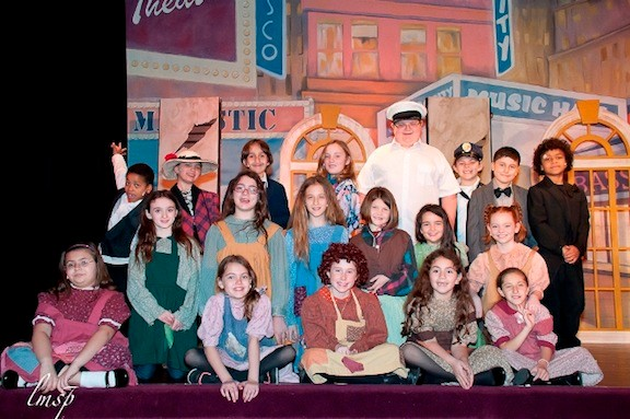 The cast during a performance of �Annie.�