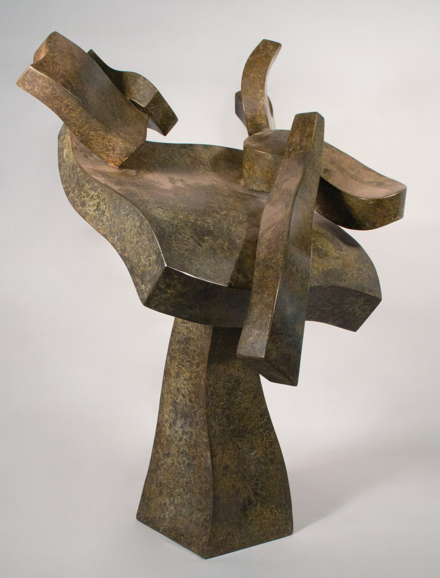 Hans Van de Bovenkamp's sculptures and drawings are on display at Adelphi University's Performing Arts Center Gallery.