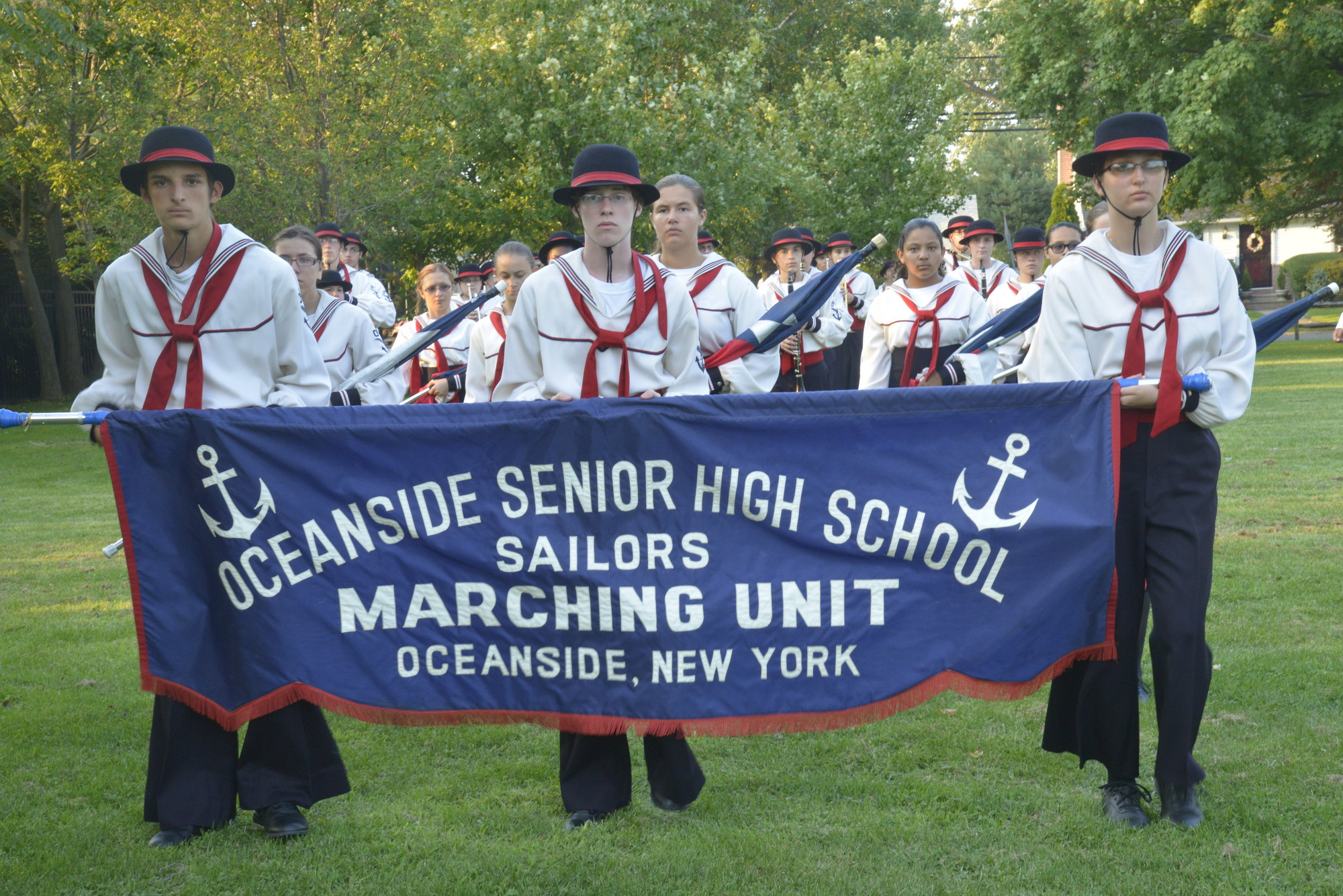 The Oceanside High School marching band took part in the ceremony
