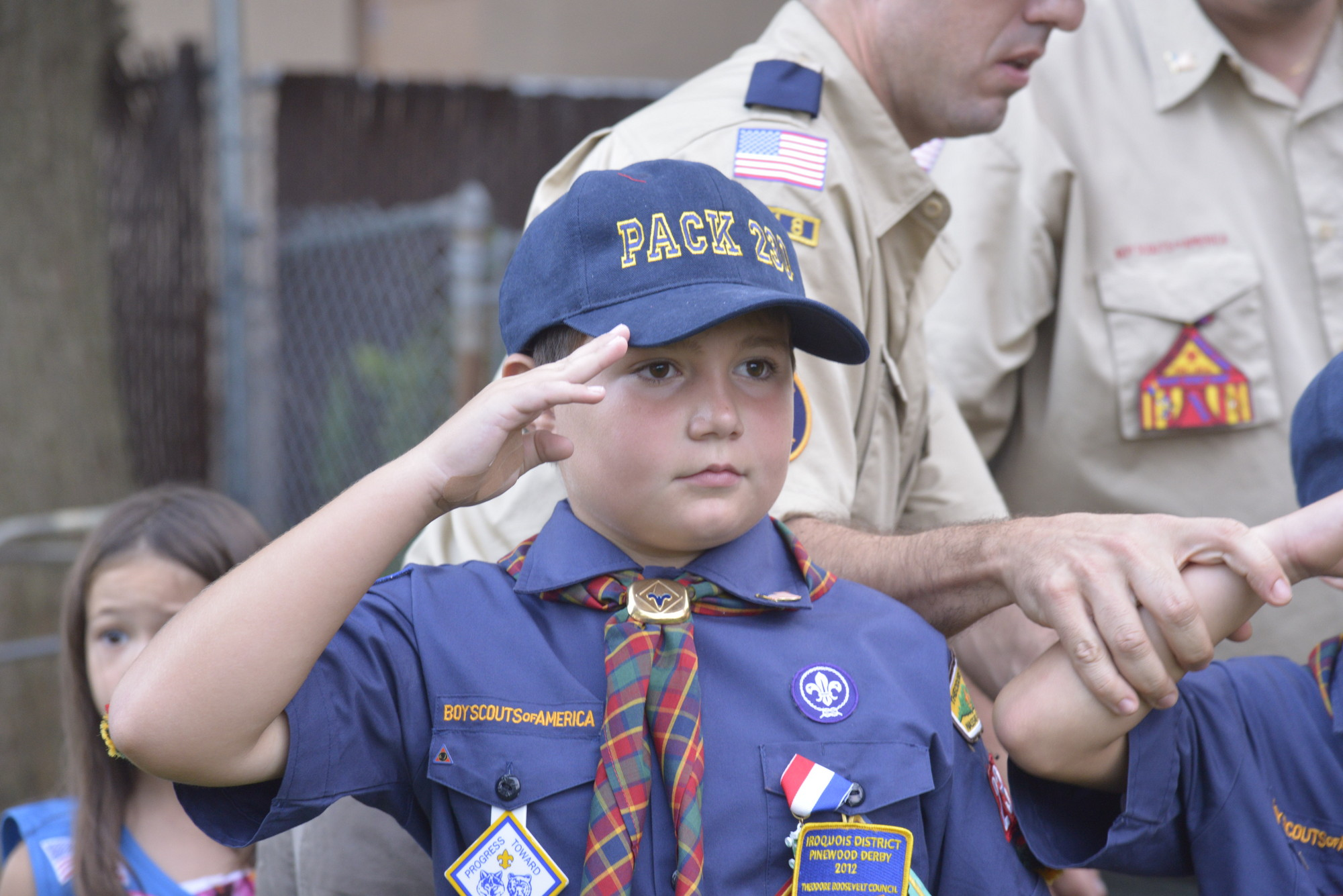 Cub Scout Nicholas Piancintino from Den 8, Pack 230 in Oceanside.