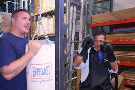 Sal Ferro, right, the owner of Alure Home Improvements in East Meadow, will compete in the 10th Annual Long Island Fight for Charity in Melville on Nov. 25.