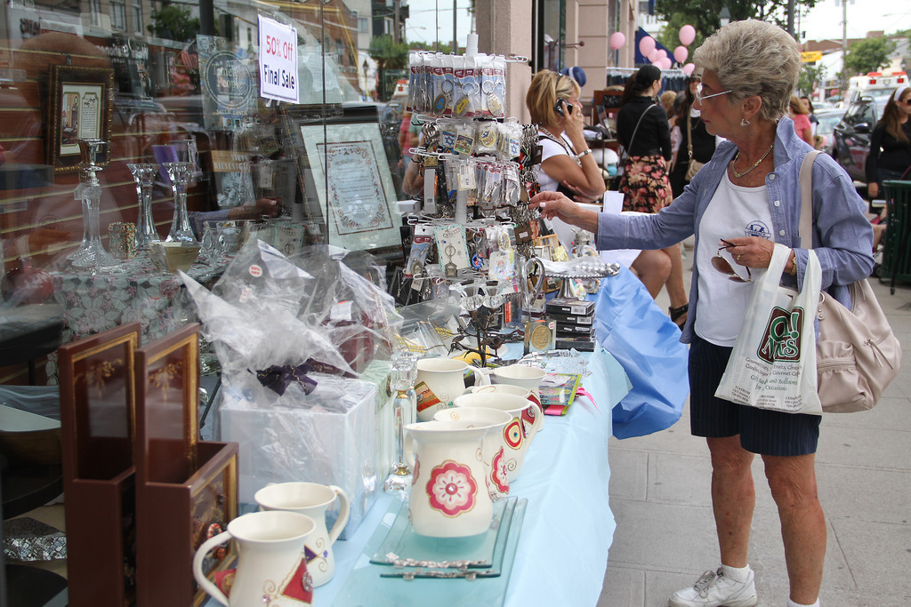 The annual Sidewalk Sale in Cedarhurst gives regular Five Towns customers and shoppers from surrounding areas a chance to take advantage of discounted merchandise.