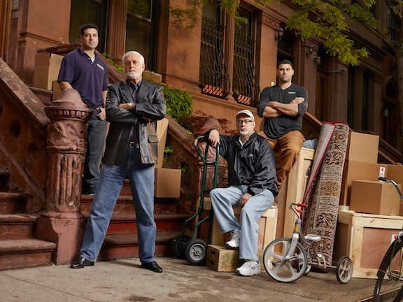 �The Great Santini Brothers� airs Sundays at 10 p.m. on the History Channel and focuses on a family-operated moving company, led by George Taliercio, standing at left, and his brother Joe, seated. Also pictured are George�s son Nick, top left, and Joe�s son, Joe. Jr., right.