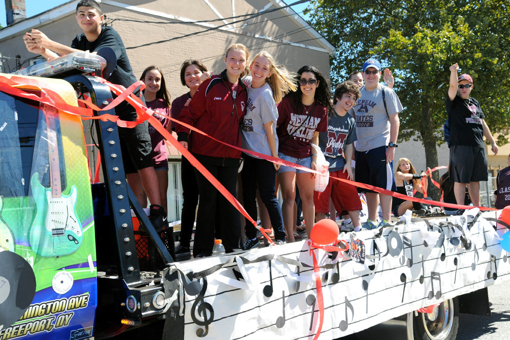 Mepham High School students will march down Newbridge Road this year from the Jerusalem Avenue School during the Homecoming parade.