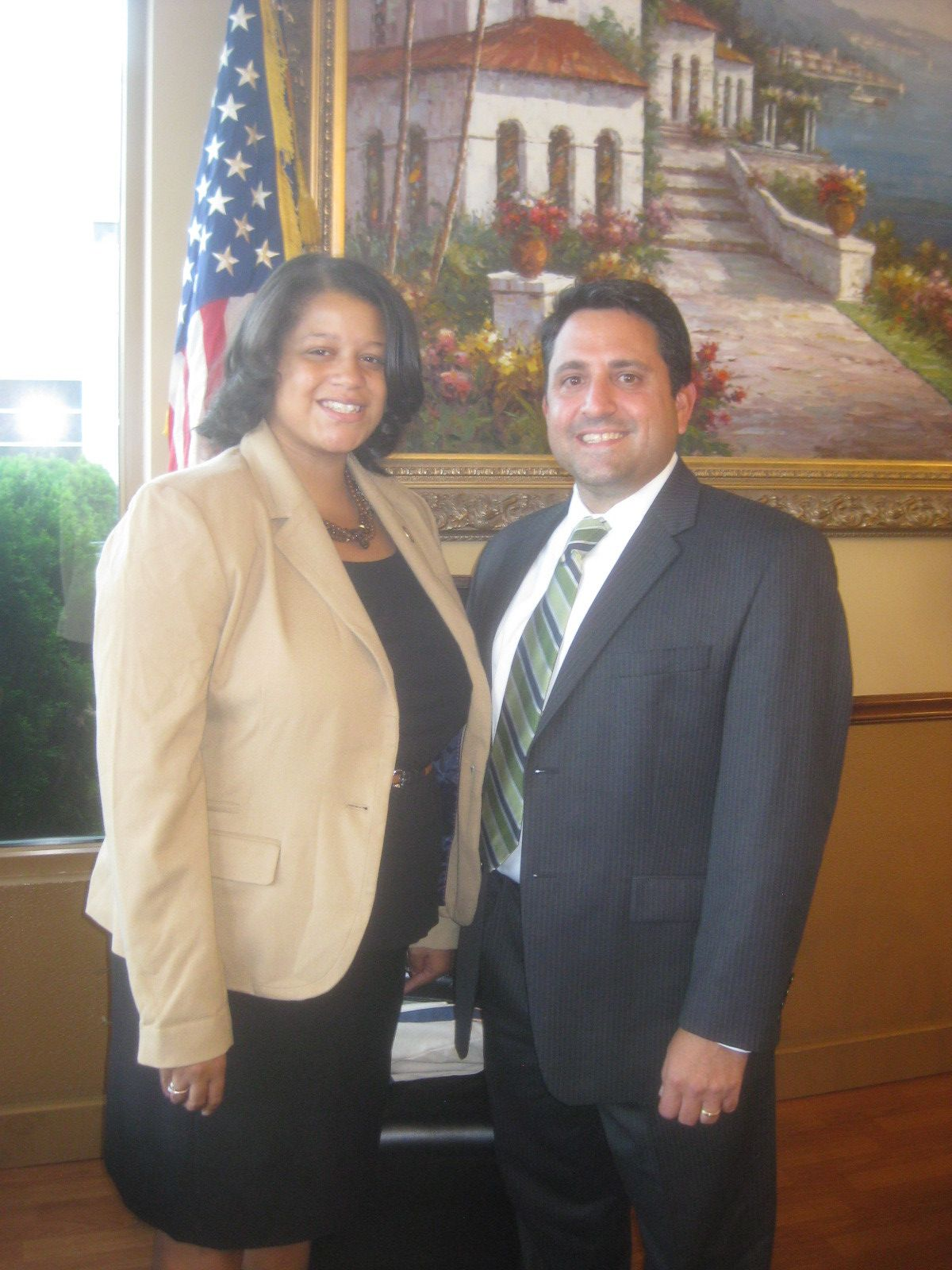 Franklin Square Chamber of Commerce President Joseph Ardito welcomed State Assemblywoman Michaelle Solages as a special guest.