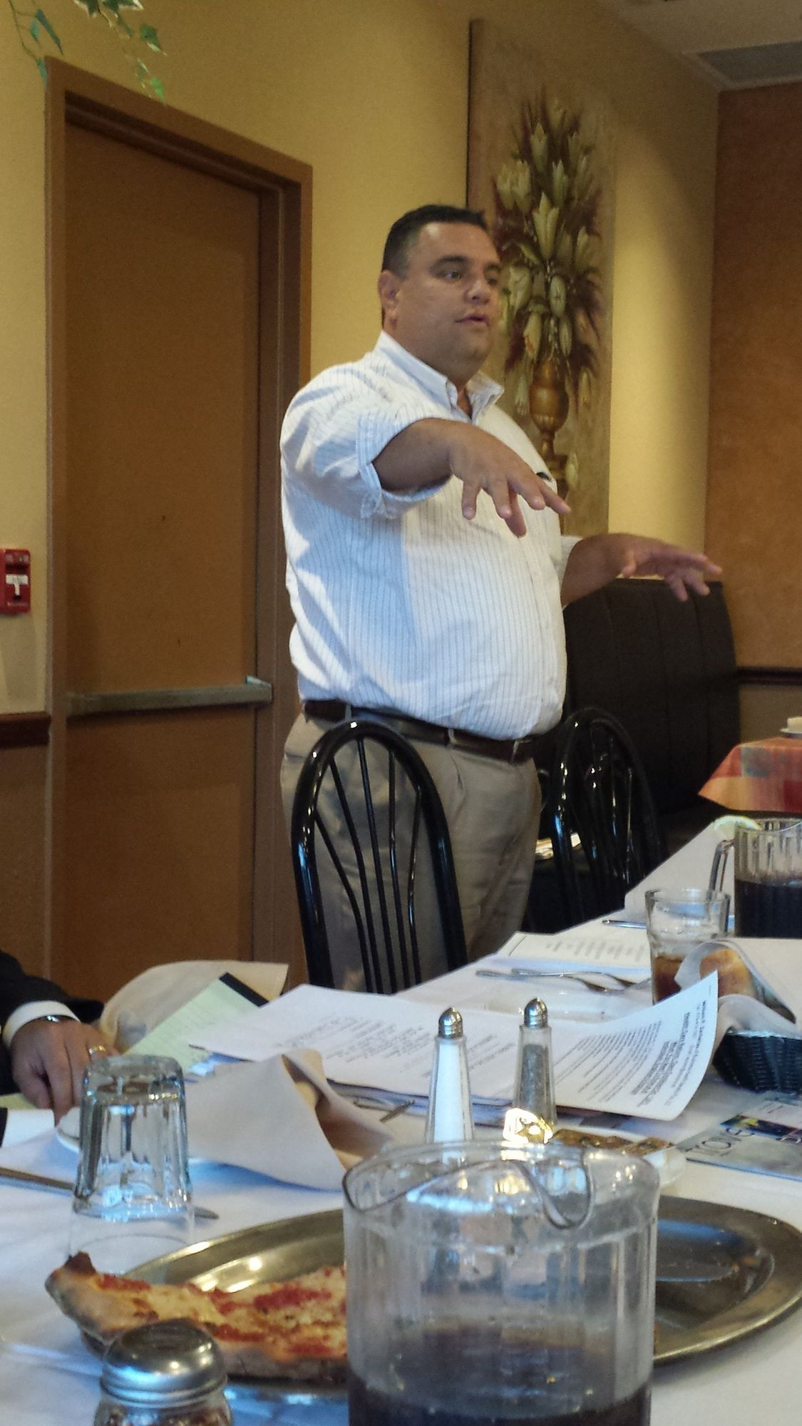 Guest speaker Bill Zacharias spoke at the Franklin Square Chamber of Commerce Dinner at Cinelli
