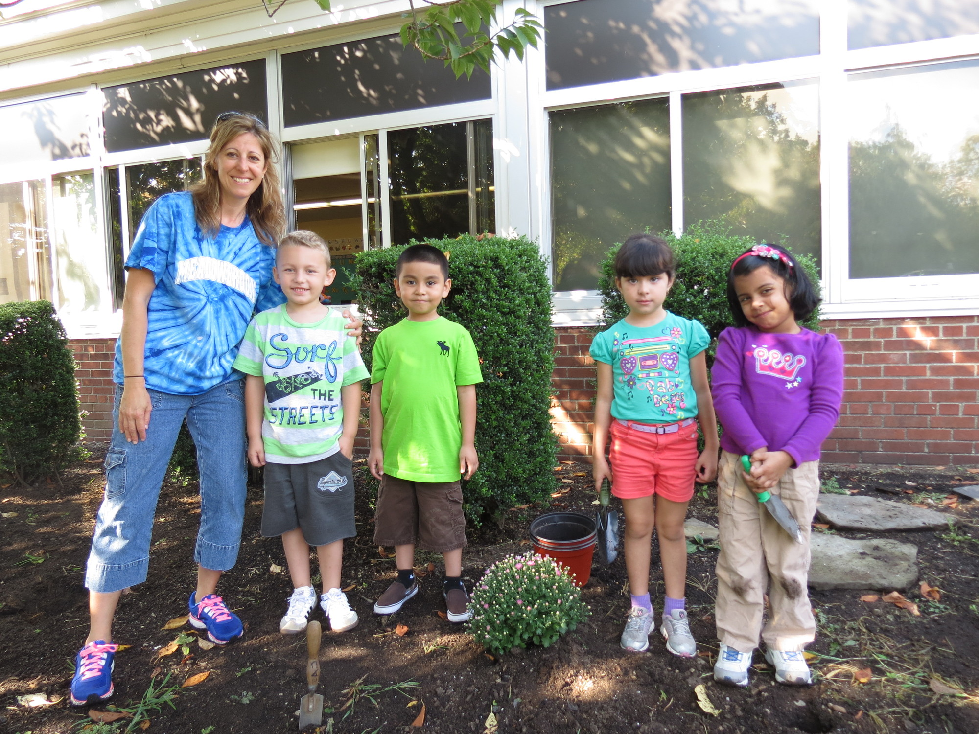 Kindergarten teacher Maria Balsamo and her students worked together to improve the school