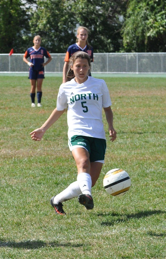 Senior Alanna McDougall scored the only goal in Valley Stream North's 1-0 victory over Conference ABC-II rival Manhasset last Saturday.