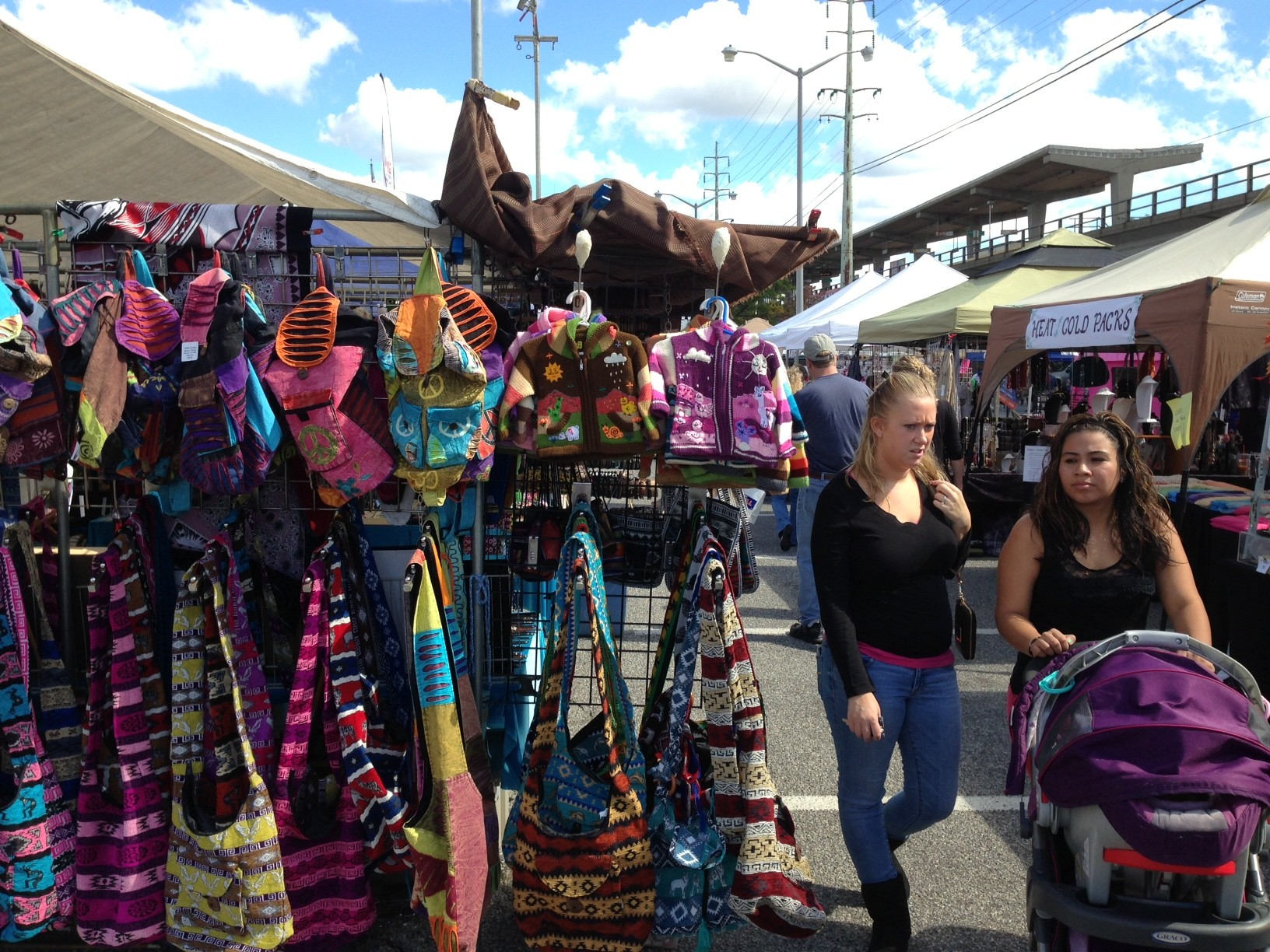 More than 150 crafts vendors were on hand, selling anything and everything, from scarves to signs to mirrors and more.