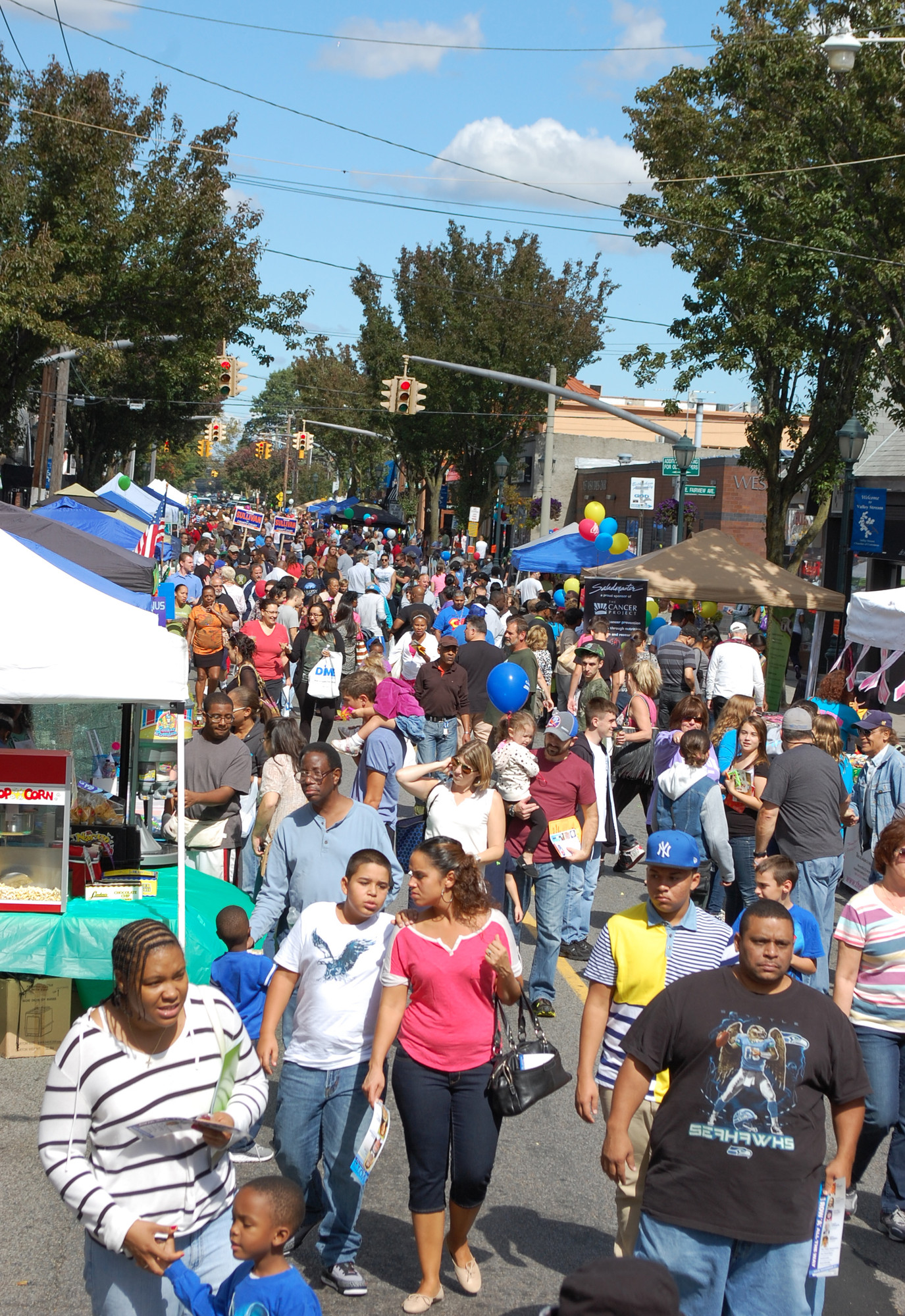 By midday on Saturday, Rockaway Avenue was lined from end to end with residents attending the second annual Valley Stream Community Fest.