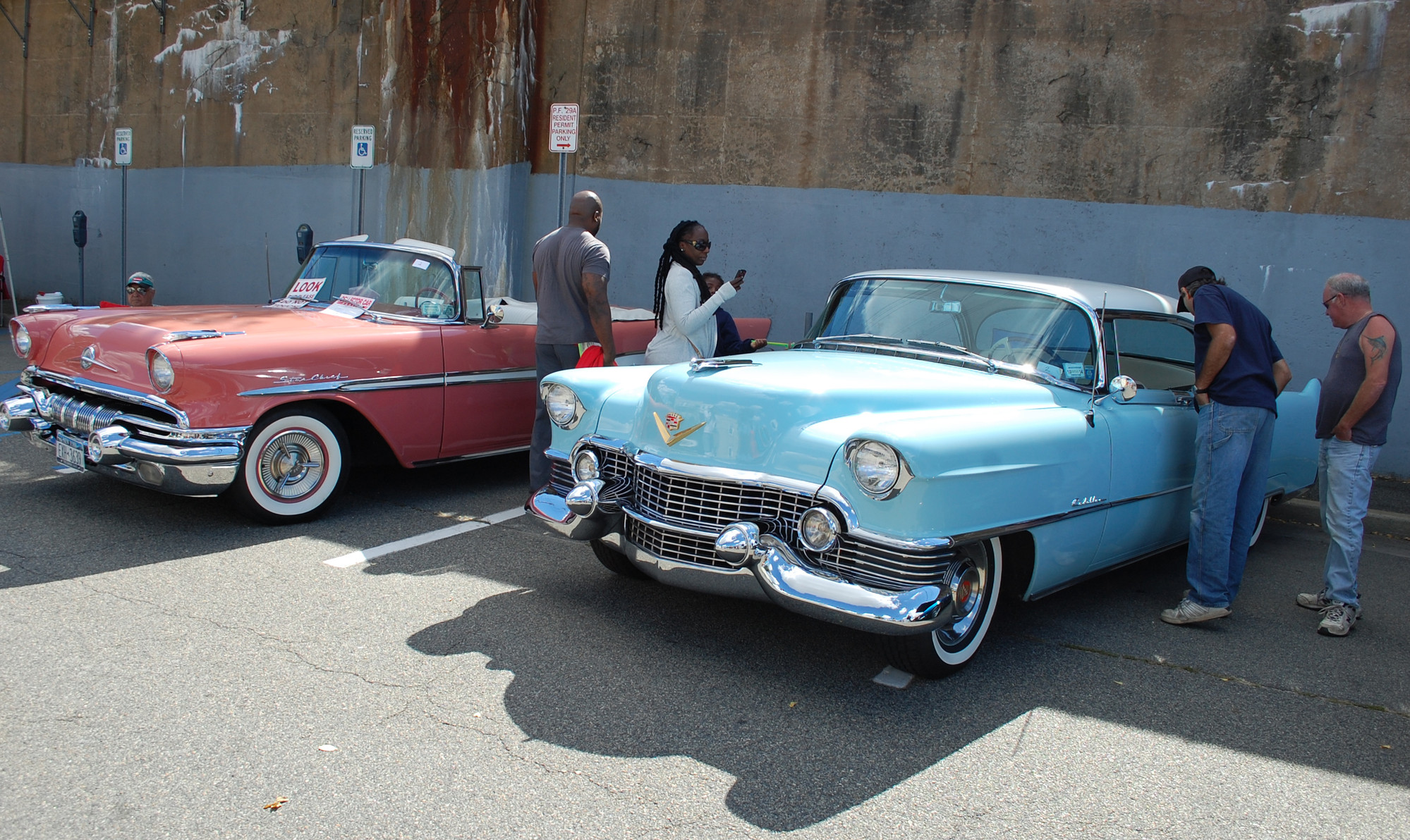 One addition to the fair this year was a classic car show in the Long Island Rail Road parking lot.