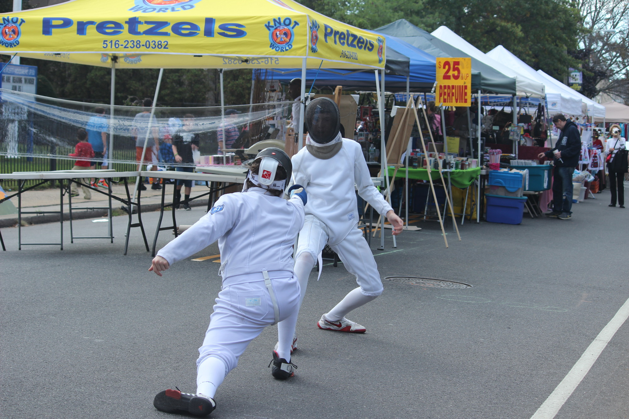 Sword play was on display as the Five Towns Fencing Club conducted demonstrations at the festival.