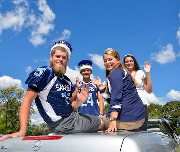 King James Kretkowski, Queen  Brianna Wachsberger, Prince Joe Billi, and Princess Erin Regan.
