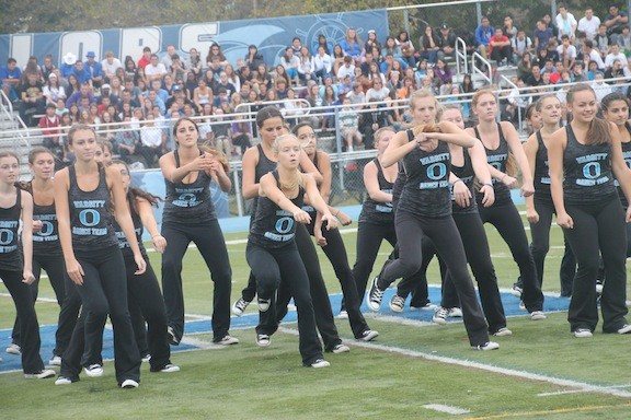 The Oceanside Dance Team at the pep rally.