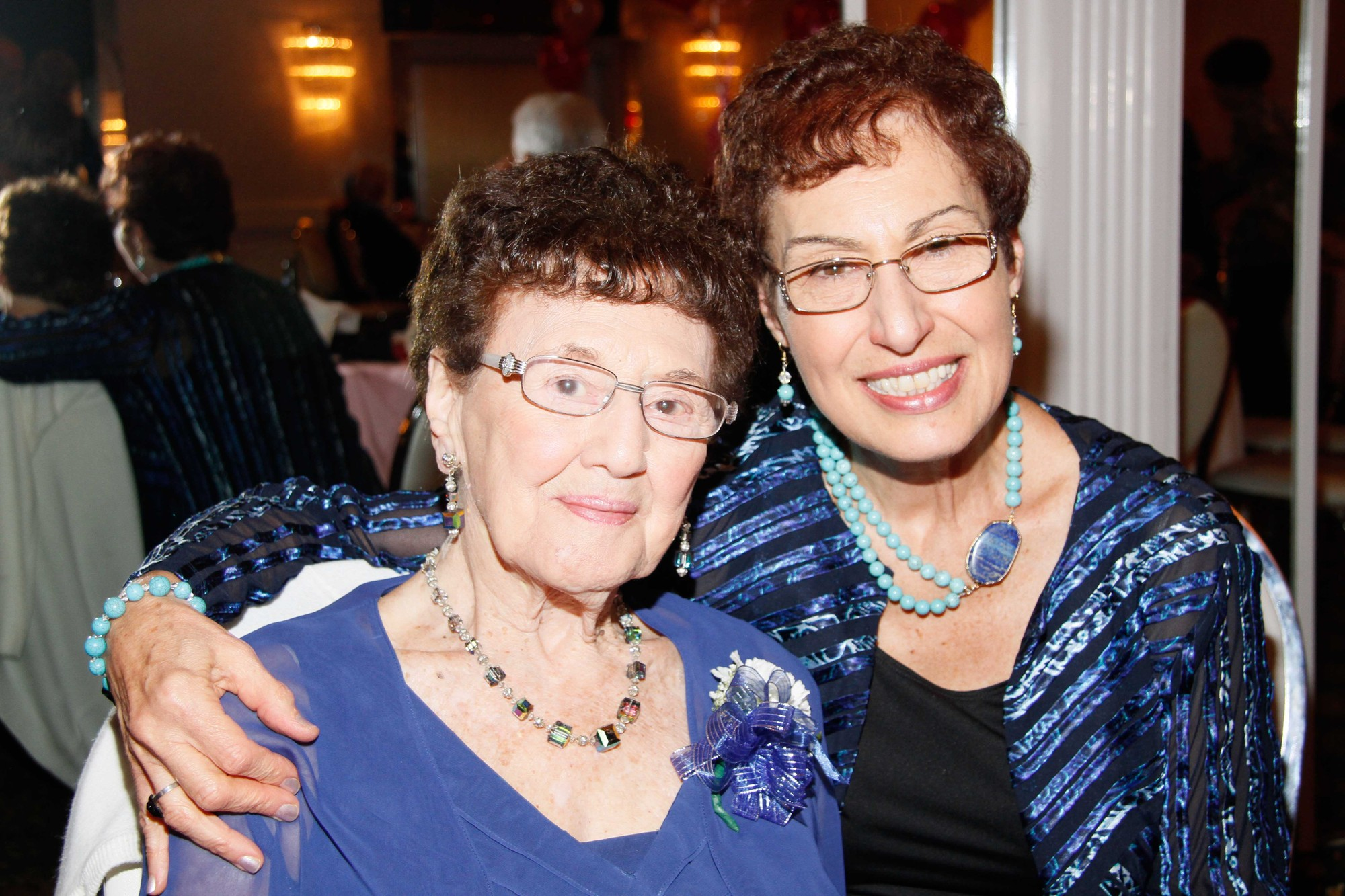 100-years-old Ida Genna Scaduto and her daughter Josephine Miller.