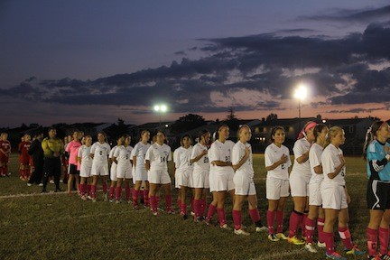 The Kennedy High School varsity girls' soccer team held a fundraiser for the American Cancer Society in honor of Breast Cancer Awareness Month.