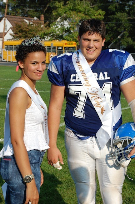 Homecoming queen Courtney Ofeimun and King Vincent Vecchione.