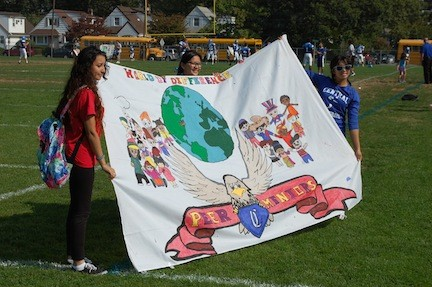 The Peer Mentor Club took first place in the Homecoming banner competition.