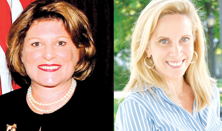 Maureen O'Connell, left, the incumbent Nassau County clerk, is being challenged by Laura Gillen.