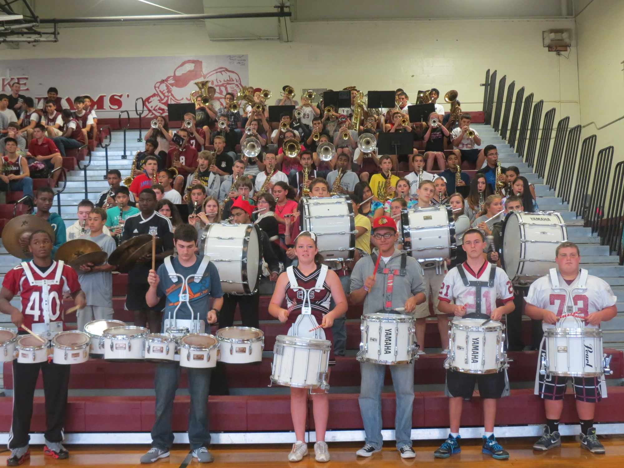 The W.T. Clarke marching band entertained the audience during the school